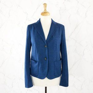 Gap The Academy Ponte Knit Blazer in Heather Blue